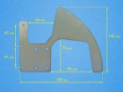 TECNAM WHEEL COVER SUPPORT PLATE
