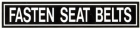 FASTEN SEAT BELT PLACARD SMALL SIZE