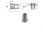 IRON THREADED KNURLED INSERTS CYLINDRICAL HEAD FTT-Z/L TYPE