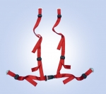 NEW 4 POINTS RED SAFETY BELT